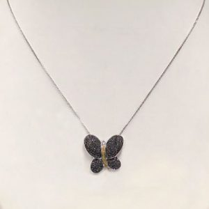 black diamond womens butterfly pendant