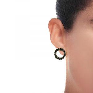 Circle Stud Earrings (1)
