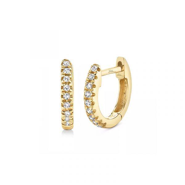 Diamond Small Huggie Hoop Earrings (1)