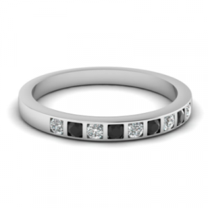 black diamond 925 silver ring