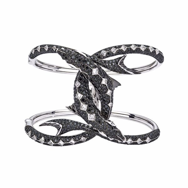 black diamonds bangle bracelet