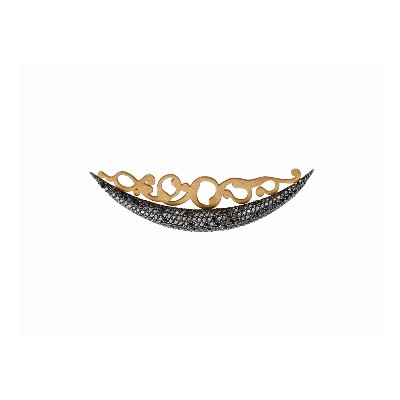 black diamond brooch