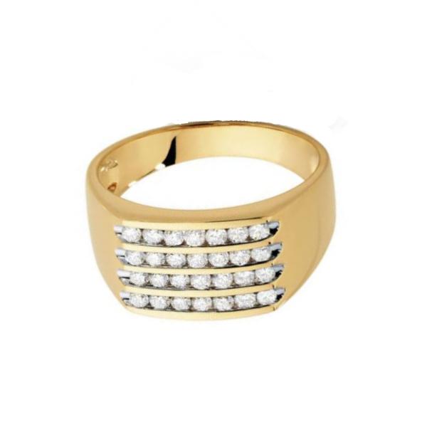 white diamond men's ring