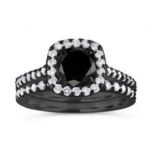 2 carat cushion cut halo diamond ring