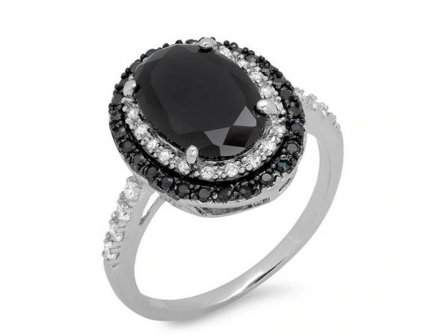 oval shape double halo diamond ring