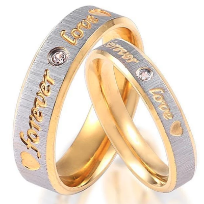 forever love design wedding ring