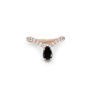 v shape diamond engagement ring