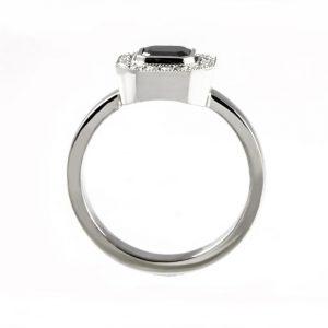 0.75ct asscher cut halo ring