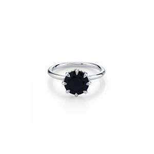 2ct black diamond solitaire engagement ringblack diamond solitaire engagement ring