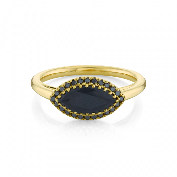 5ct big black diamond ring