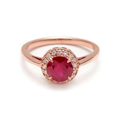 ruby for engagement ring