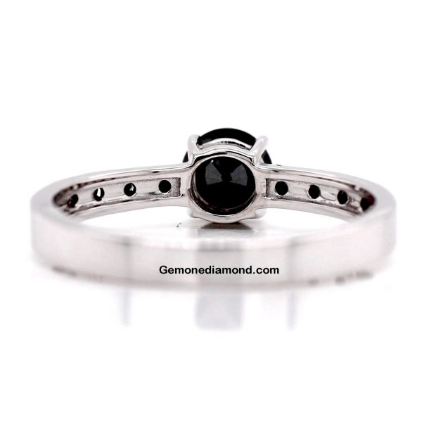 1.50 Carat Black Diamonds Engagement Rings For Bride (3)
