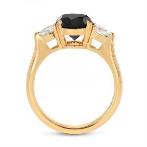2 Carat Black White Diamond Engagement Ring