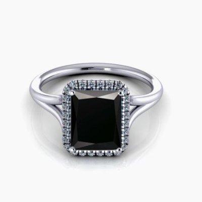 halo bridal ring set