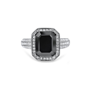 3ct emerald cut halo diamond engagement ring