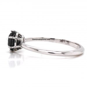 Attractive 6 Prong 1 Carat Diamond Ring In 14k WHITE Gold