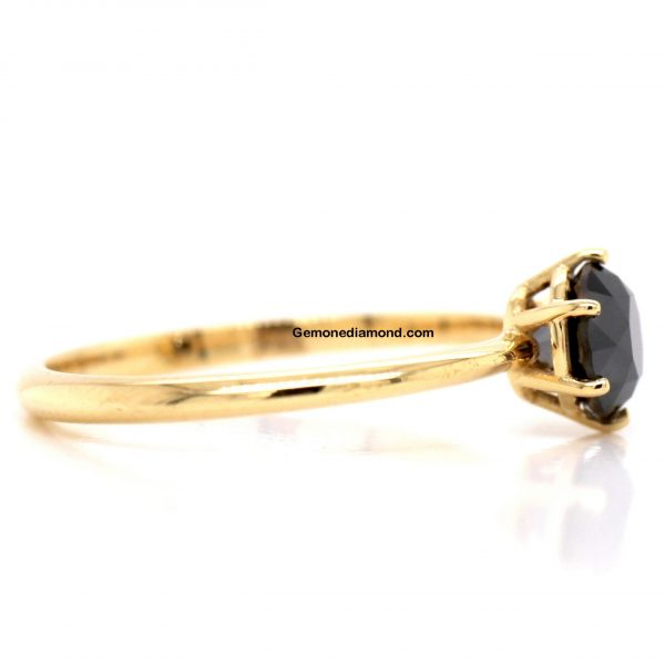 Attractive 6 Prong 1 Carat Diamond Ring In 14k YELLOW Gold