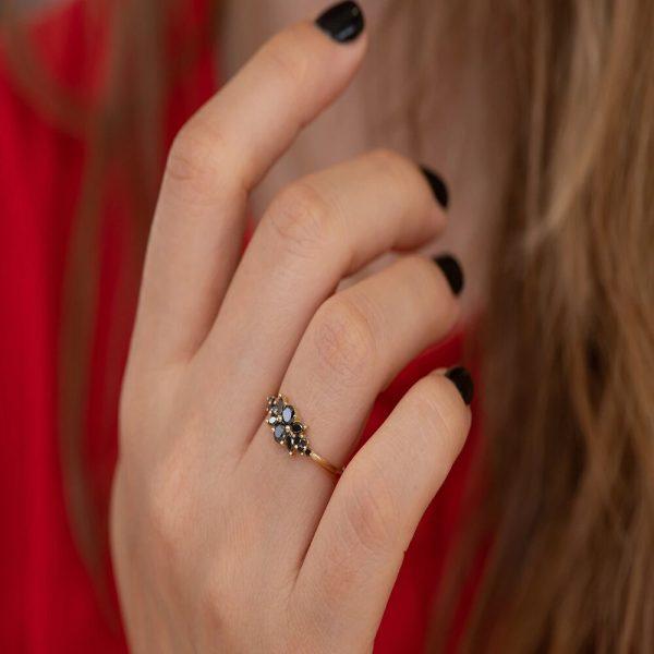 rose gold antique ring