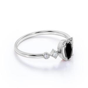 halo black diamond engagement ring