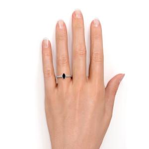 marquise cut black diamond engagement ring