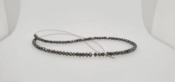 black diamond faceted bead