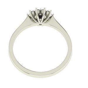 black diamond cluster ring