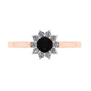 0.50ct black diamond cluster ring