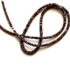 Dark Brown Diamond Faceted Beads