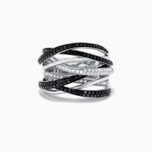 black and white diamond rings