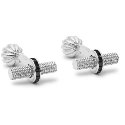 cufflinks with black diamonds