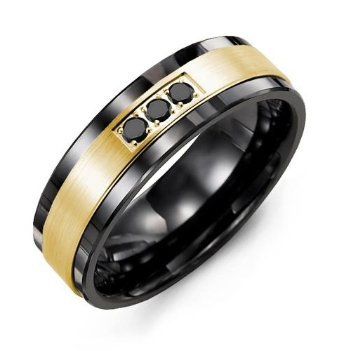 men's wedding band with diamonds