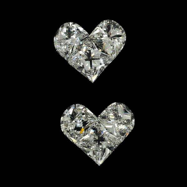 Heart Pie Cut Diamond