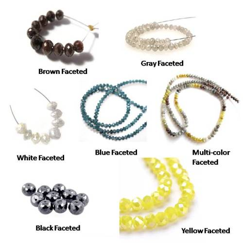 color faceted beads