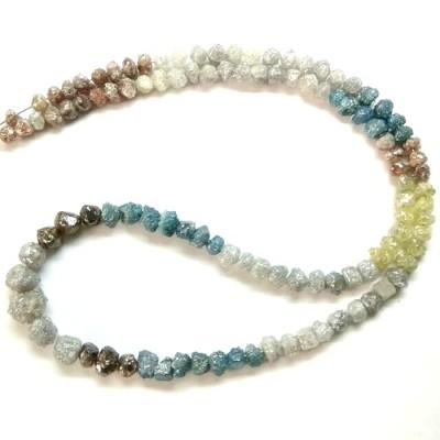 multi-color uncut diamond beads