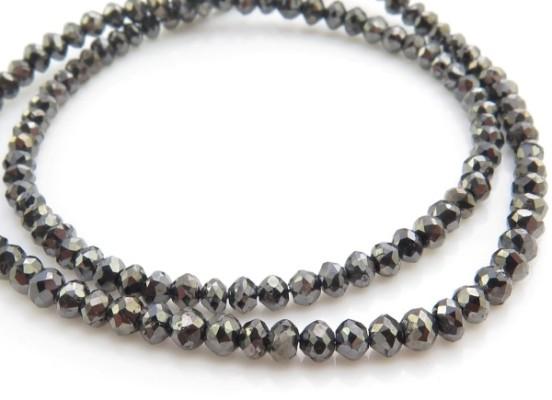 Round bead cut diamond