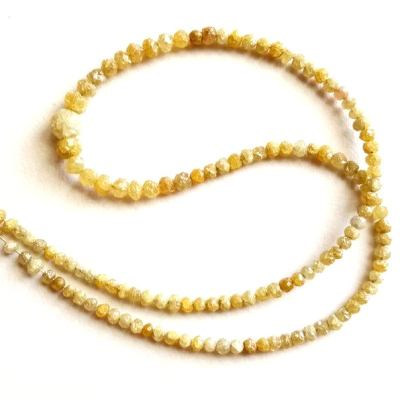 yellow rough diamond beads