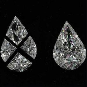 Pear pie cut diamond
