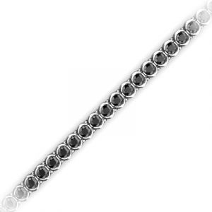black diamond eternity tennis bracelet