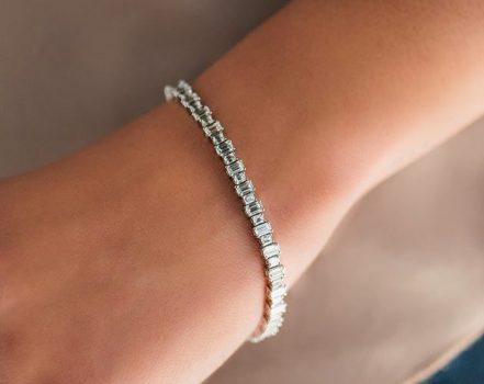 fancy cut tennis diamond bracelet