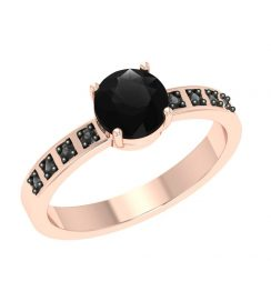 1ct black diamond ring