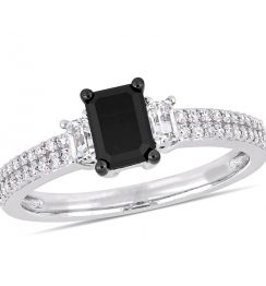 1.5 carat 3 stone diamond ring