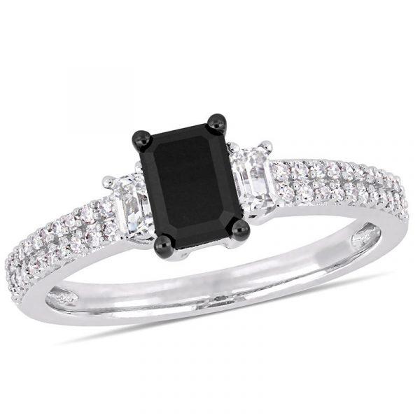 1.5 carat 3 stone diamond ring