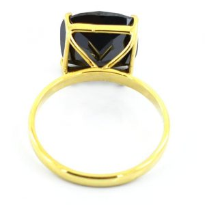 cushion solitaire ring