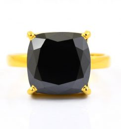 5ct black diamond ring