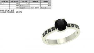 1ct black diamond ring