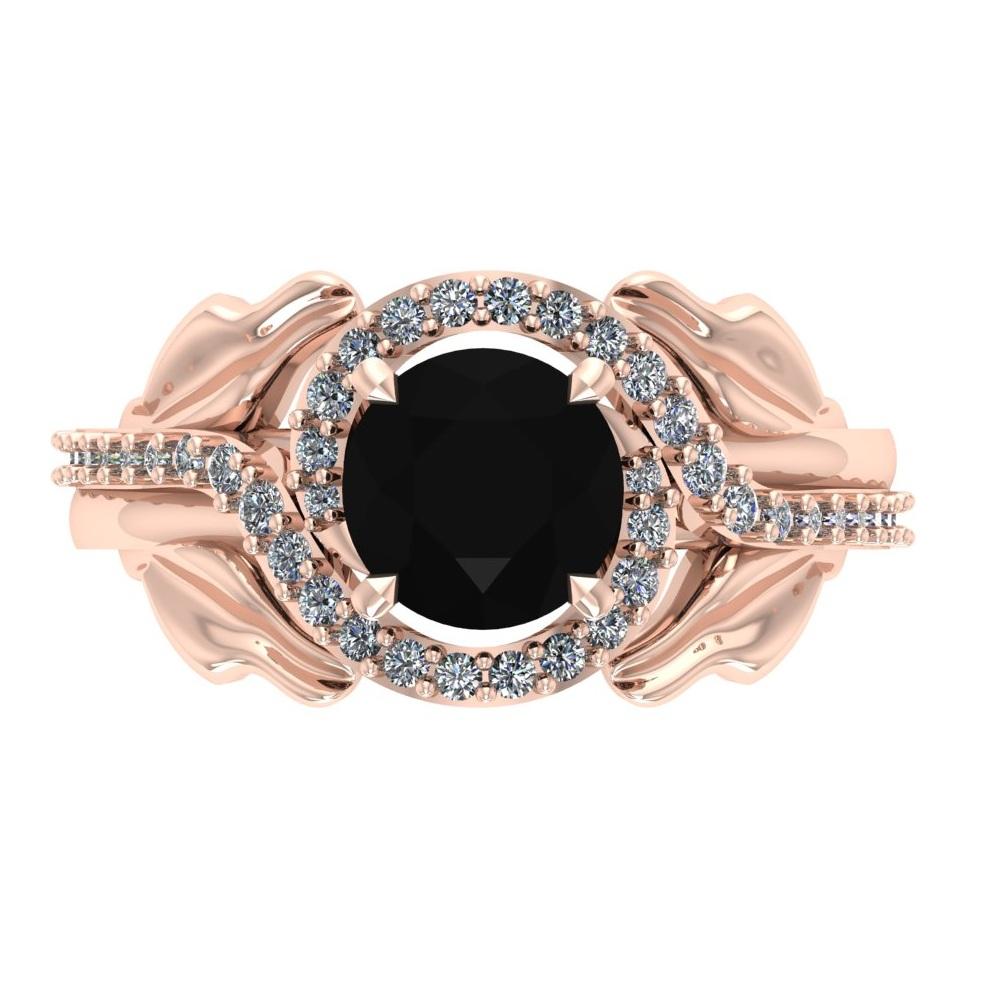 rose gold leaf ring