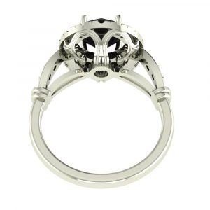 black diamond halo ring