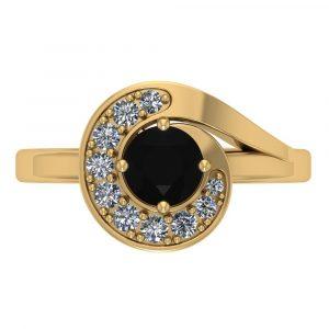 whirlwind black diamond ring