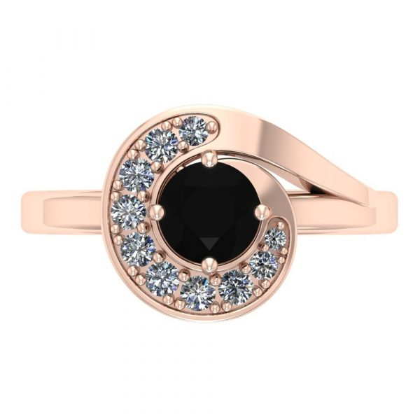 whirlwind black diamond ring