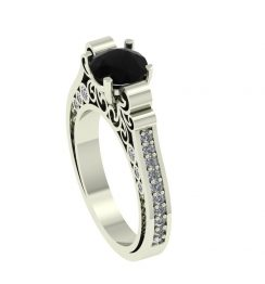 black diamond antique ring